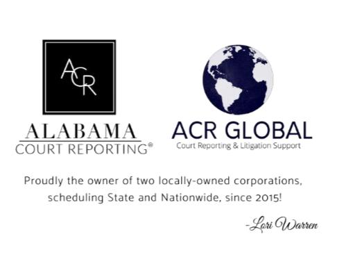 Alabama Court Reporting Logo
