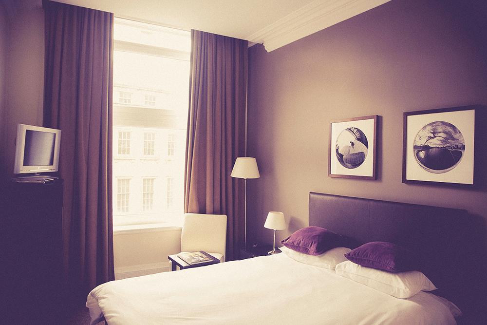stock photo of hotel room
